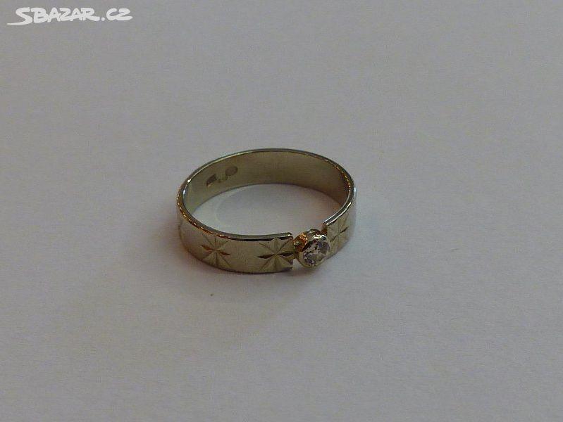 Briliantový prsten Au 2 30fcb5846bd