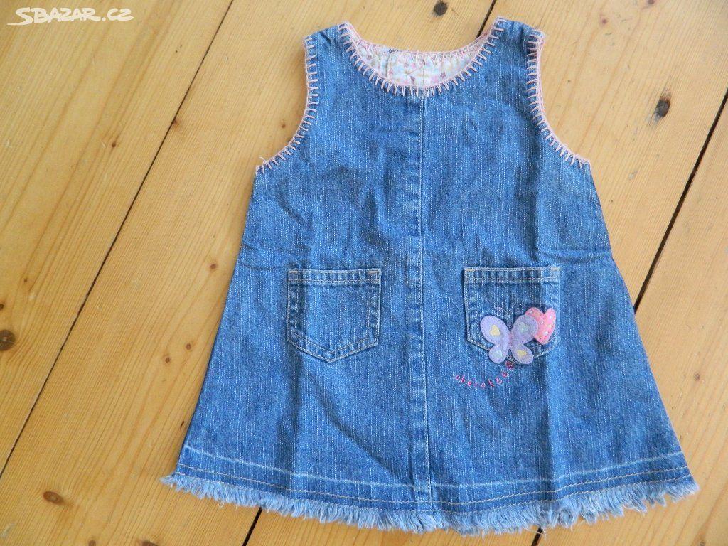 71f9a8b71529 Dětské riflové šaty vel. 68 - Velký Osek