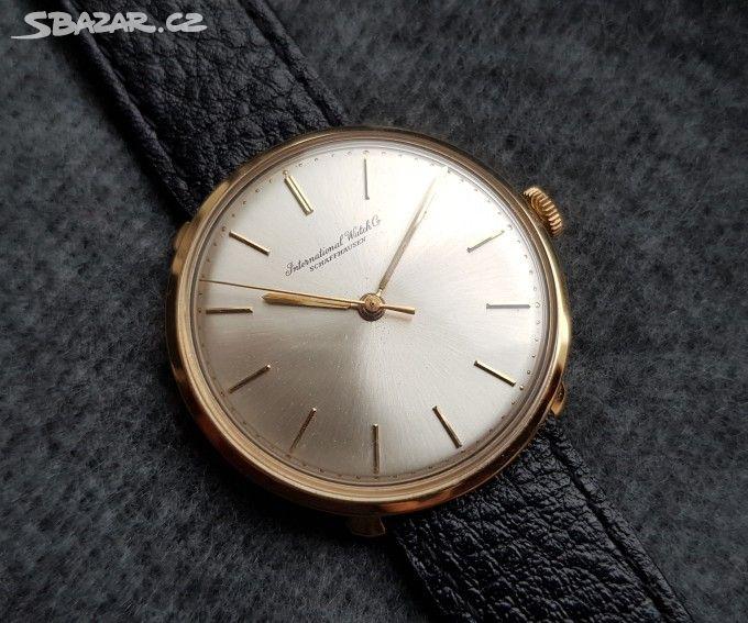 Zlaté pánské náramkové hodinky IWC International - Praha - Sbazar.cz 95621b5dfa2