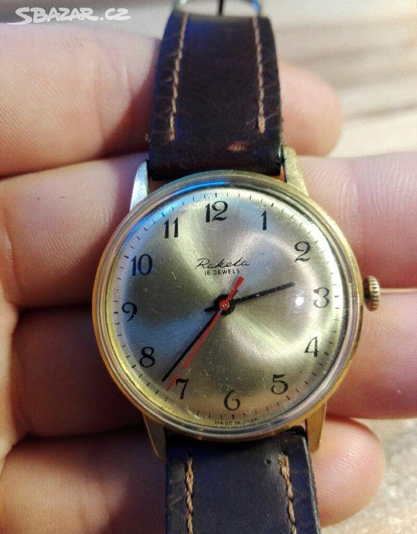 6334e67bf hodinky RAKETA 16 JEWELS - Praha - Sbazar.cz