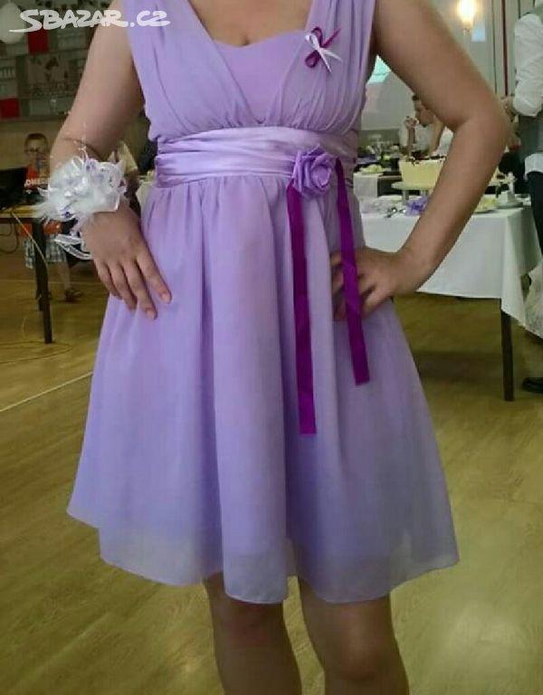 Úžasné lila šaty na svatbu ples c9f45b430d