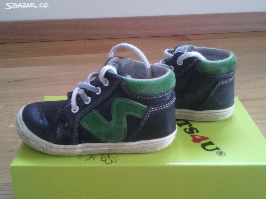 dětské kožené boty - Lány 7734affa40