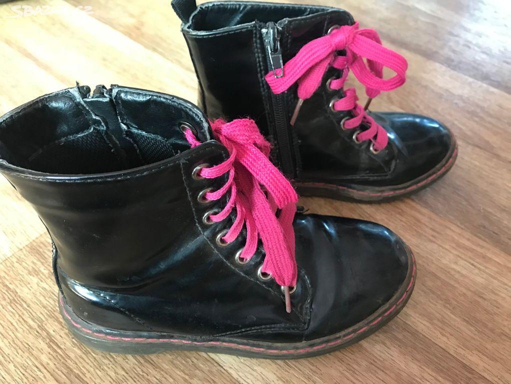 Jarní - podzimní kotníkové boty vel.32 - Sloupno 6ae64b92f4
