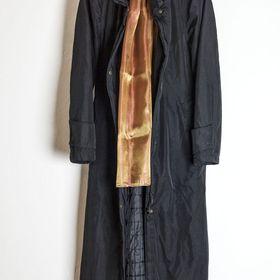 kabát - kožený dlouhý dámský plášť. - Varnsdorf feb4a29a2f