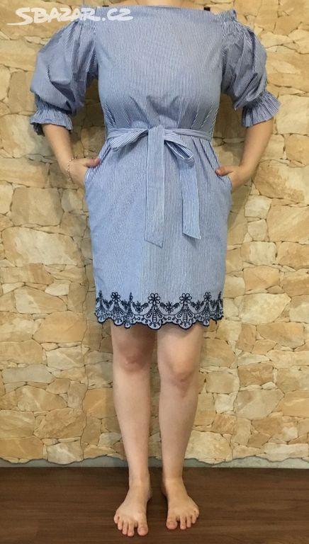 Proužkované šaty vel. XS Reserved Nové - Okříšky 80cf91489f