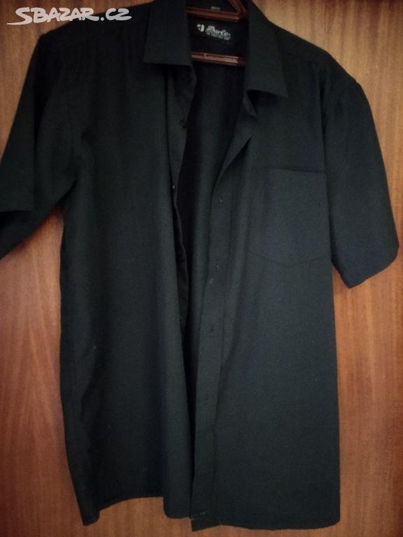 69bcce04c73 Pánská černá košile s krátkým rukávem - Darle - České Budějovice ...