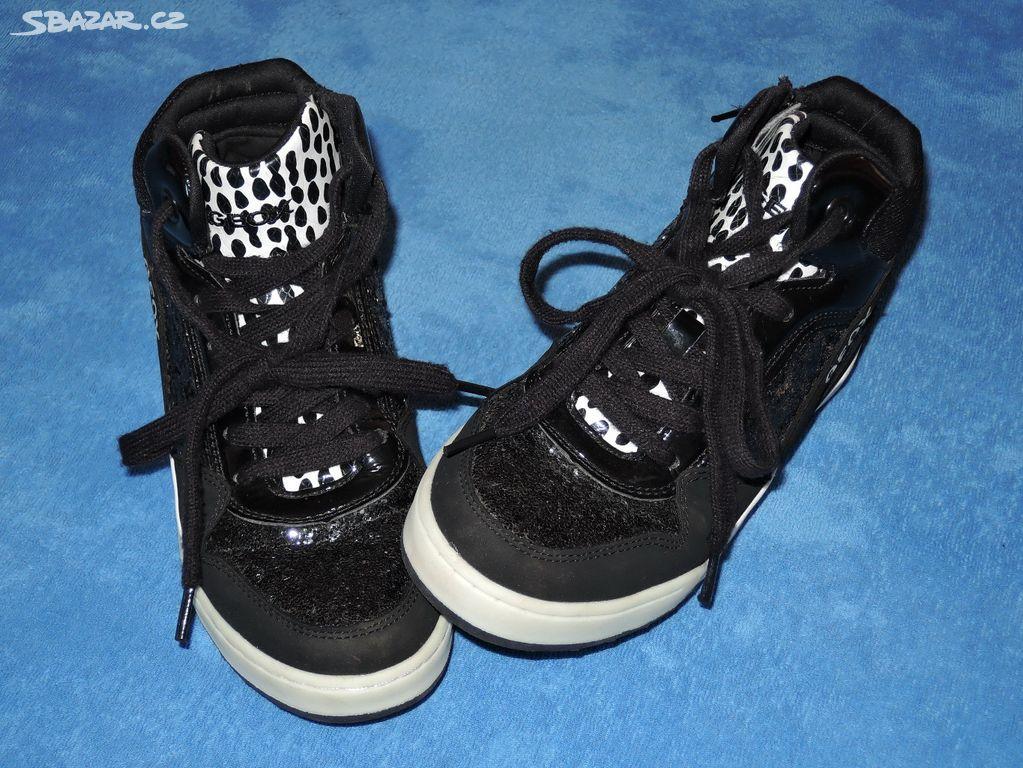 44540affd2c černé KOTNÍČKOVÉ boty GEOX RESPIRA