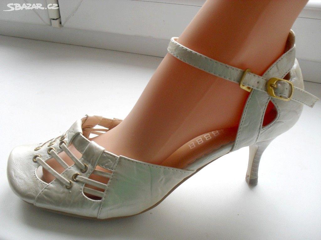 Kožené stříbrné lodičky sandále v. 36 39 obuv boty - Ústí nad Labem ... 5f3d9c8f6e