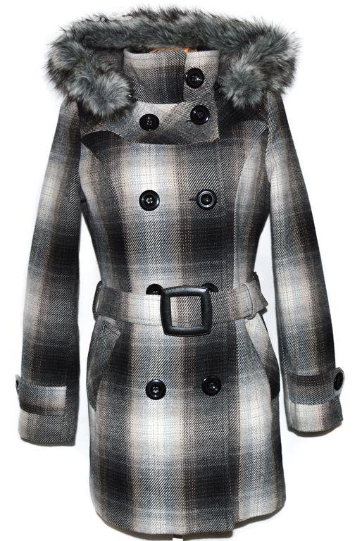 Vlněný dámský zateplený kabát s páskem a kapucí L - Praha - Sbazar.cz ae3ab217d0