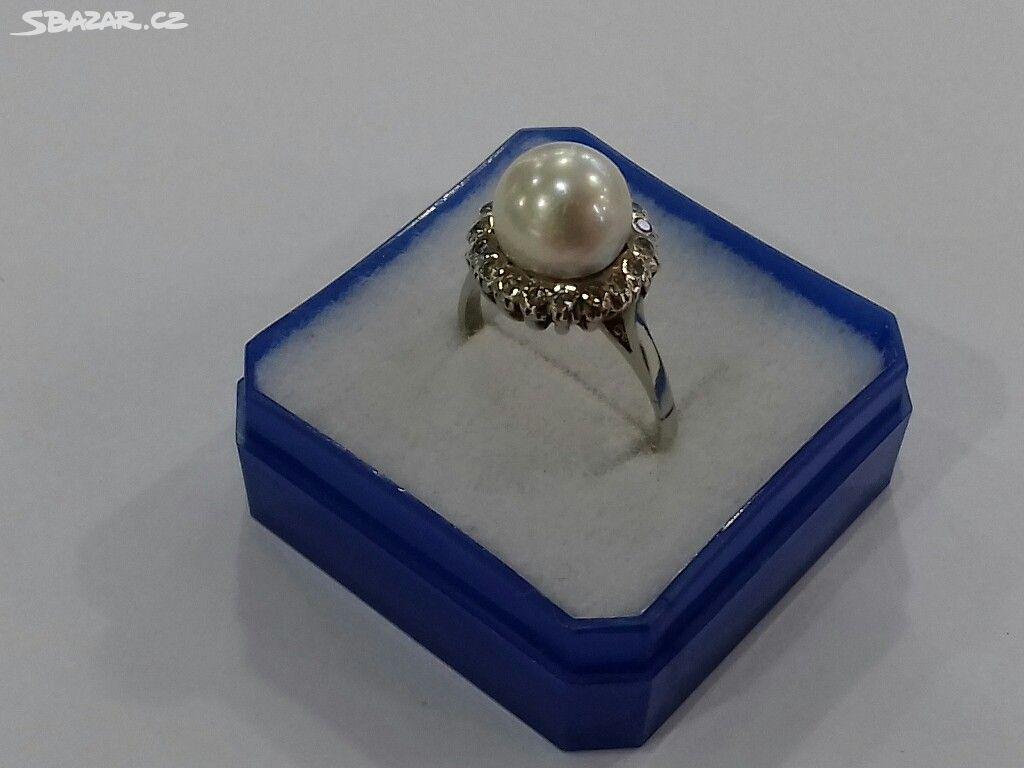 5793b7f39 Zlatý prsten, diamanty, perla, Rakousko-Uhersko - Děčín - Sbazar.cz