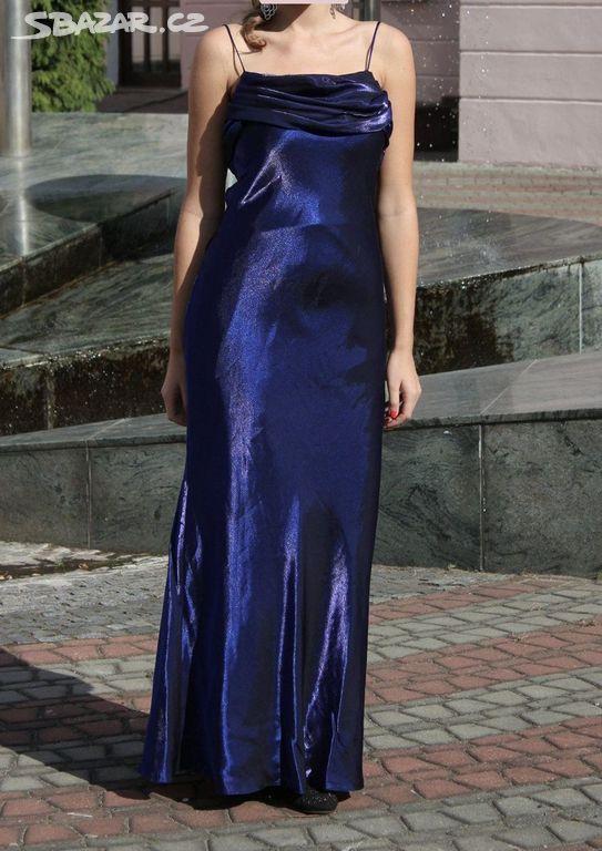 358e8887c686 Prodám modro-fialové plesové šaty vel. 38. - Česká Lípa - Sbazar.cz
