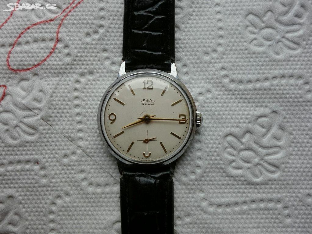9e5153eee Další staré,funkční mechanické hodinky Prim 15rub - Klášterec nad ...