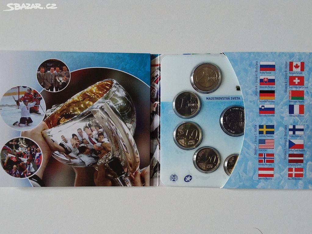 e13c46ee1cc98 Sada oběžných EURO mincí SR - MS v hokeji 2011/19 - Nové Strašecí ...