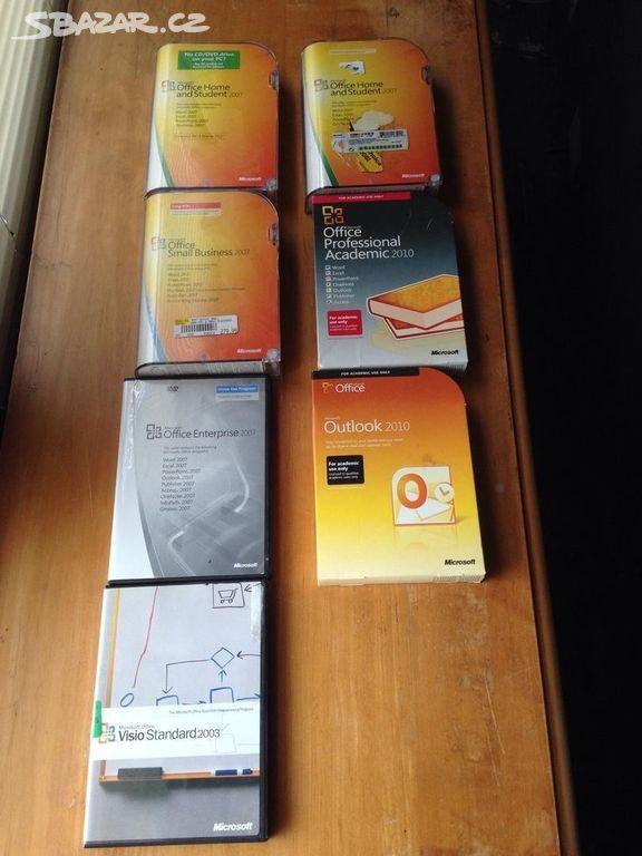 VÍCE licencí MS Office 2007 CZ, na 1 a 3 a 5 PC - Tábor