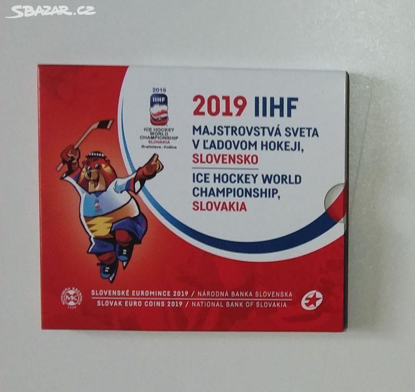 d0f785ae13325 Sadu oběžných EURO mincí SR 2019 - MS v hokeji - Nové Strašecí ...