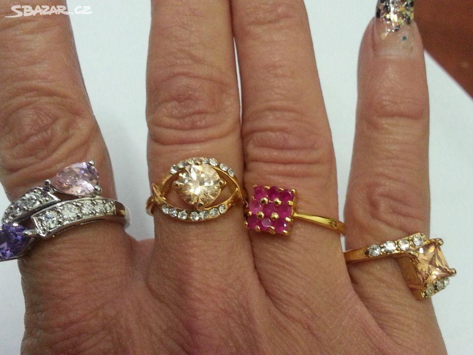 Prsteny pozlacené VÝBĚR !!! - Prostějov - Sbazar.cz 5261a80a42
