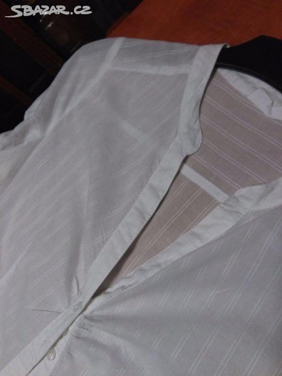 05f17222913 Krásná bílá dámská košile s krátkým rukávem - Karviná - Sbazar.cz