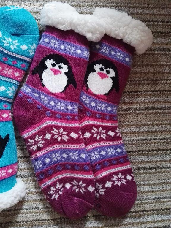 Hřejivé ponožky s kožíškem - Lukavice 6cd73dd489