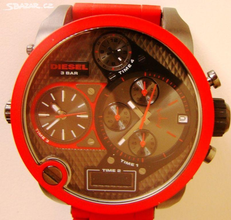 1e7ab99d5 Pánské hodinky Diesel, červené - Cheb - Sbazar.cz