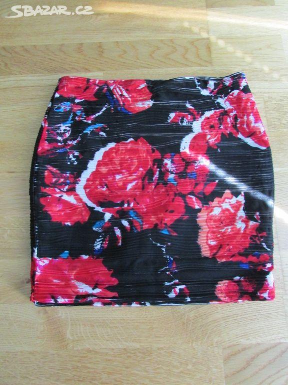 Dámská černo-červená sukně 8027e0a13c