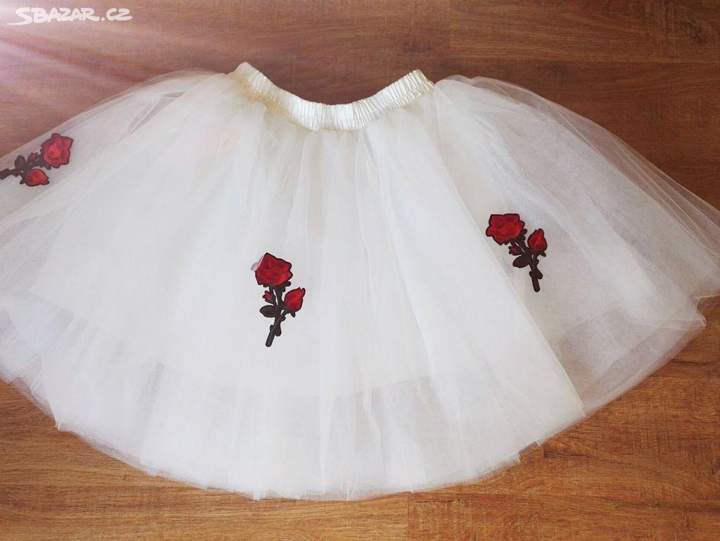 Bílá tylová sukně - Klobouky u Brna 48699ee083