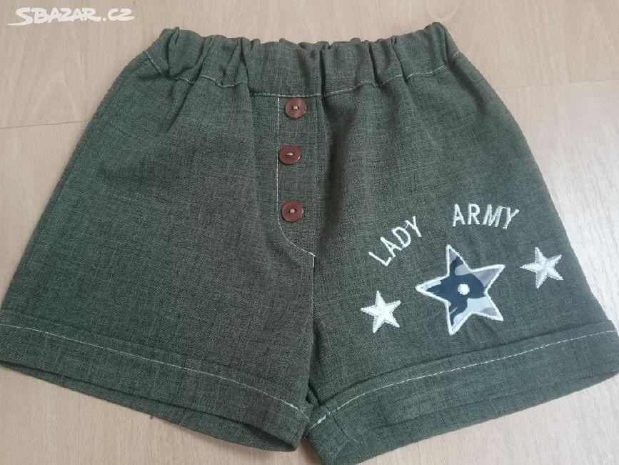 šortky army vel. 92 98 - Nový Bor 07b59d4a53