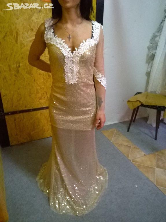 Dámské společenské zlaté šaty -SLEVA!!! - Liberec - Sbazar.cz fd690919716