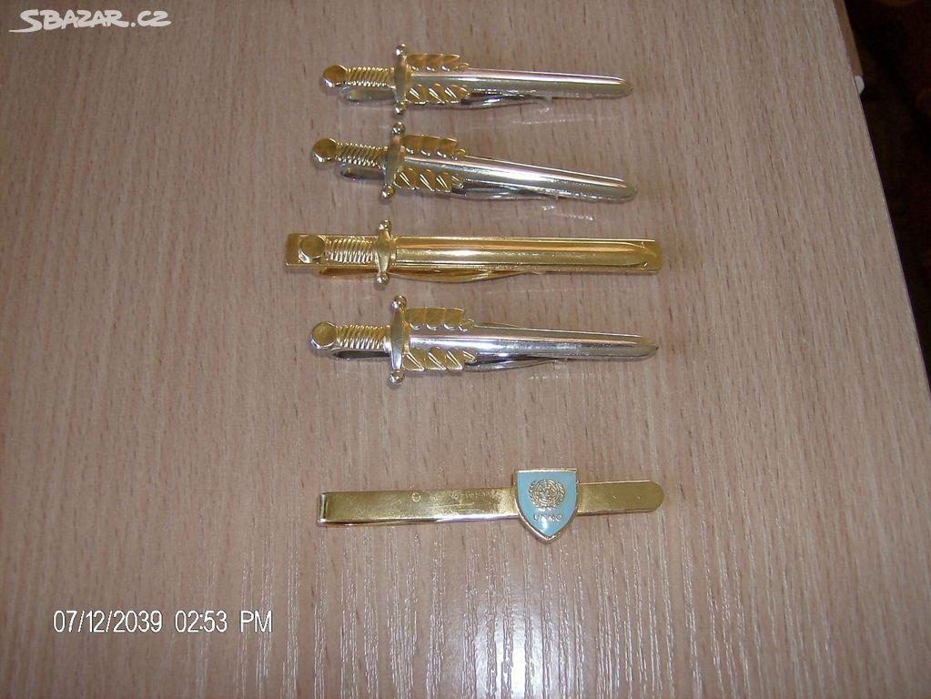 Vojenské spony na kravatu - Žatec 595402f4c7