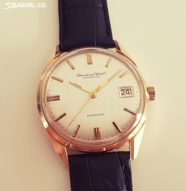 Pánské zlaté náramkové hodinky IWC Schaffhausen - Praha - Sbazar.cz afc30623c92