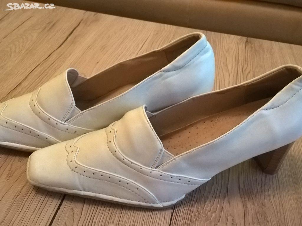 nové bílé boty lodičky vel. 39 - Kroměříž - Sbazar.cz a209da2316