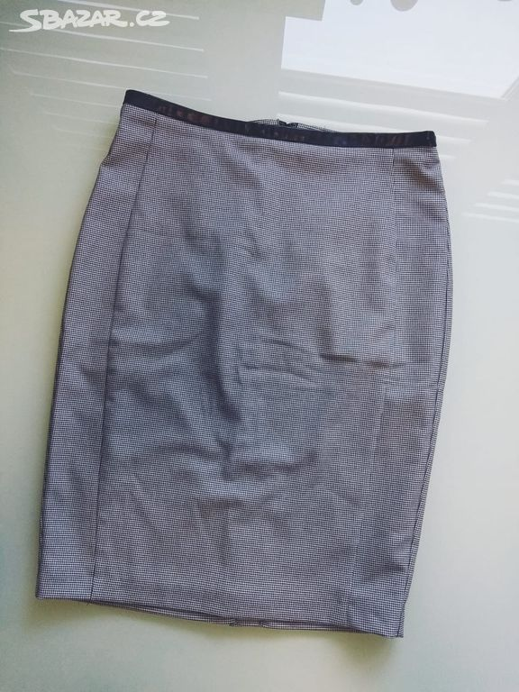 2d4339d67bc9 Šedá business pouzdrová sukně