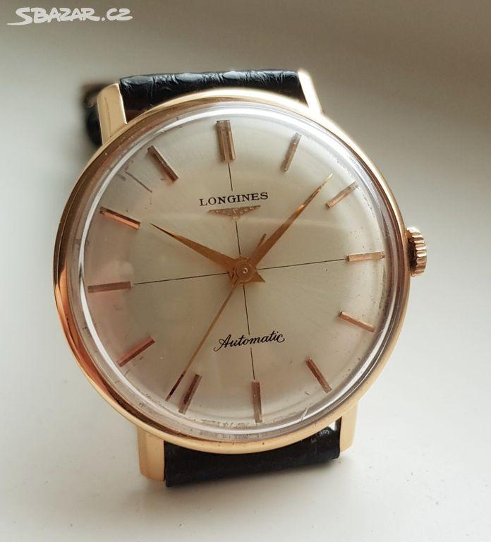 Pánské zlaté náramkové hodinky Longines Automatic - Praha - Sbazar.cz 2e775cfa8b6