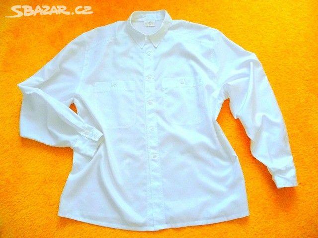 Bílá dámská košile vel. L - Krnov 5c8e3d968a
