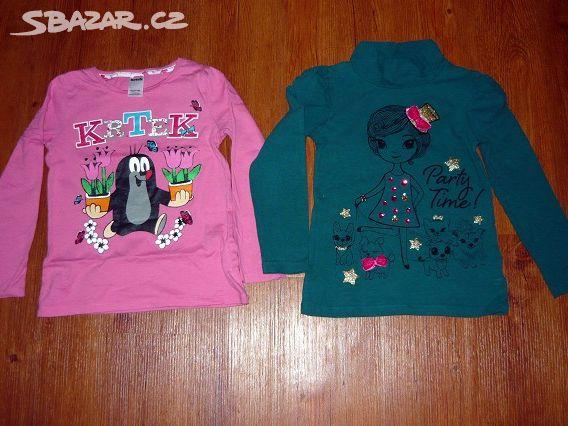 ae84910e31d Prodám 2x dívčí trička s dlouhým rukávem - Žatec