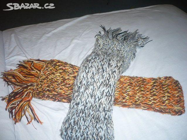 054c9b0bee4 Ručně pletené šály Prodám dvě šáĺy na - Vojenský újezd Hradiště ...