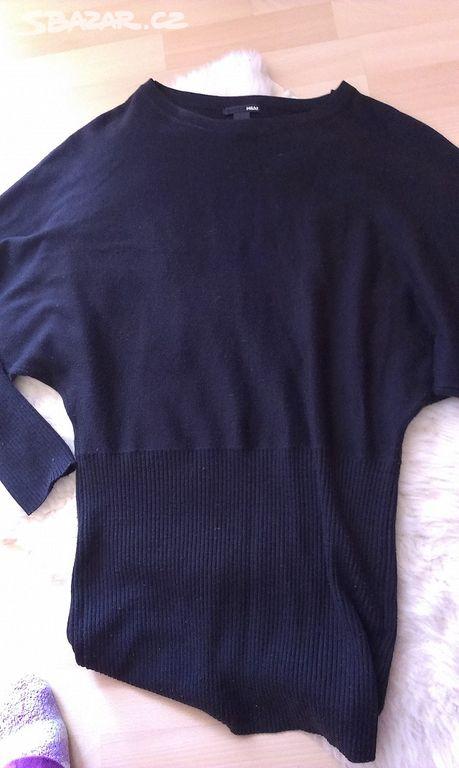 Dámský delší svetr netopýřího střihu - rukávy 3ee3468dec