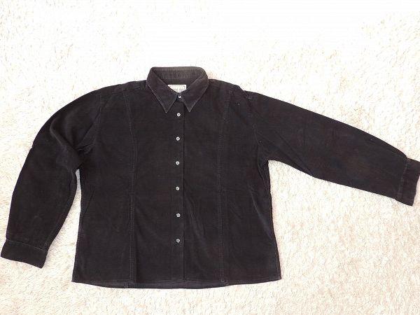 a1bf387ef7a Černá manšestrová košile s dlouhým rukávem