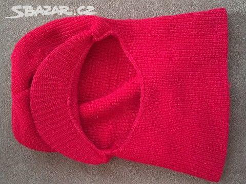 Zimní dámská kukla červená - Humpolec d9c2ed2c78