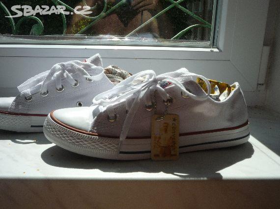 Vyprodej boty CONVERSE ALL STAR nízké bílé b94d71d6c5e