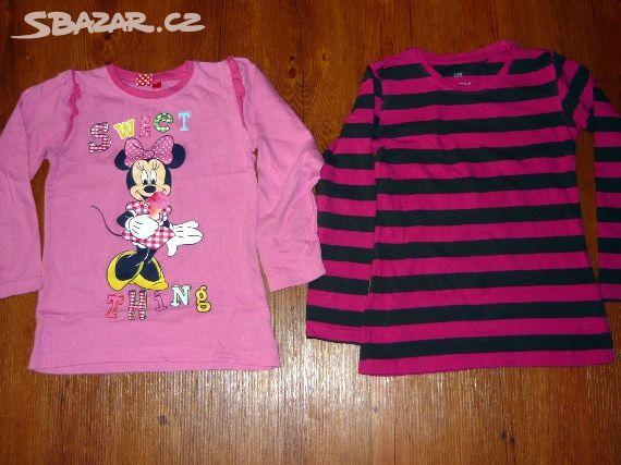 9be51ffbd42 Prodám 2 dívčí trička s dlouhým rukávem - Žatec