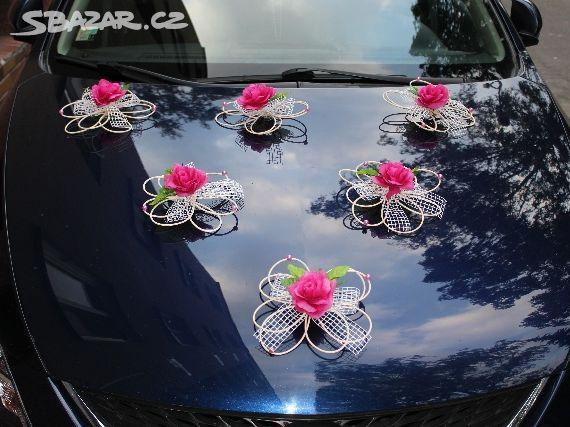 9b9db69a840 Originální svatební dekorace na auto. 6 kusů - Rosice