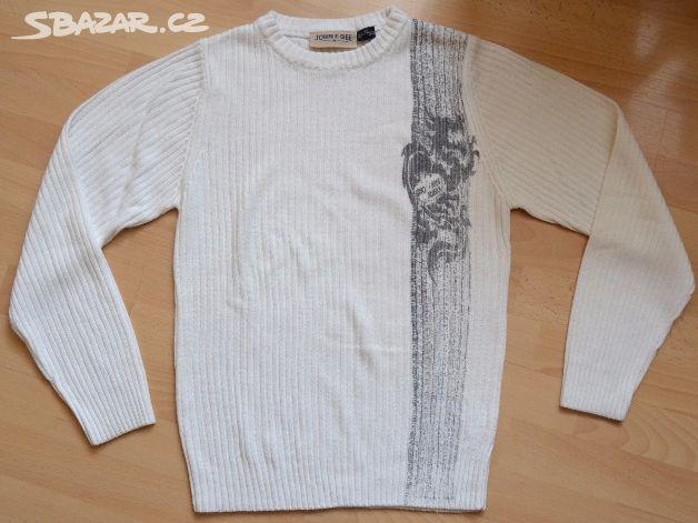 21fcb6d975e Pánský bílý svetr. - Uherský Brod