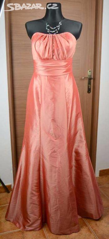 5c828454d06 Lososové dlouhé společenské šaty vel 42 - Opava