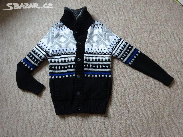 Pánský svetr s kožešinou - Hranice 50393a7cb2