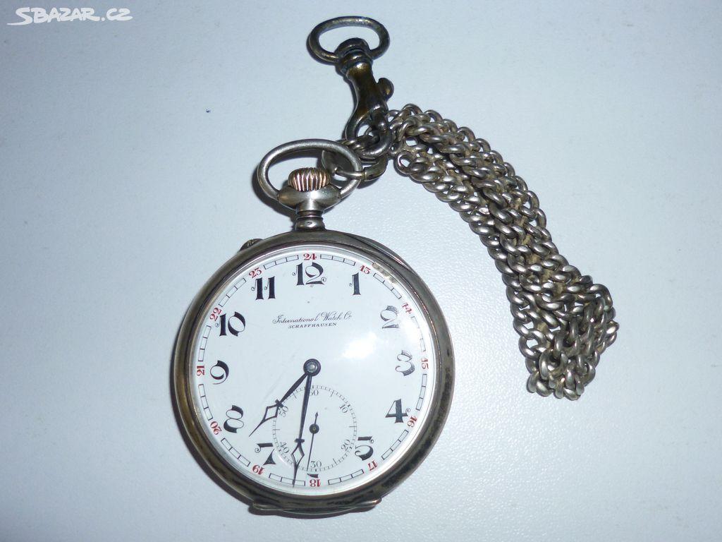 Stříbrné kapesní hodinky Schaffhausen - Praha - Sbazar.cz b30c83f657