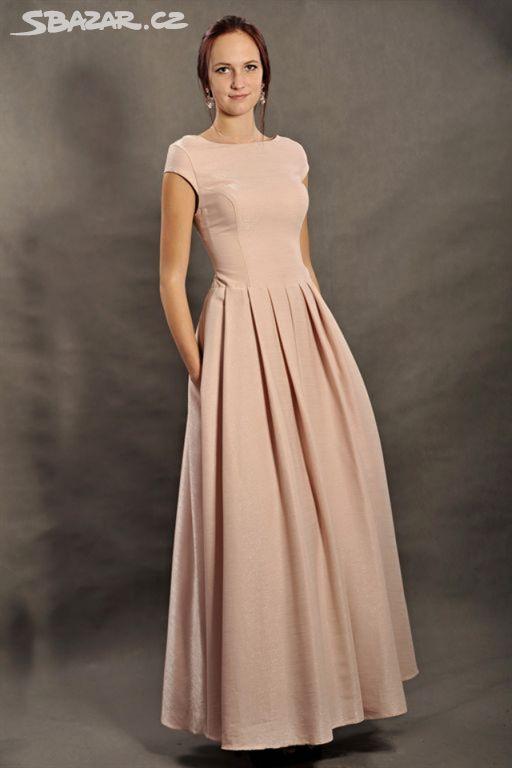 61c77dece43 Hezké pudrové šaty - Vinary