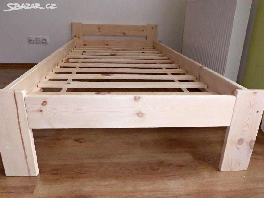 152c3d0c6d4a Dřevěná postel 90 x 200 cm + rošt - Nelahozeves