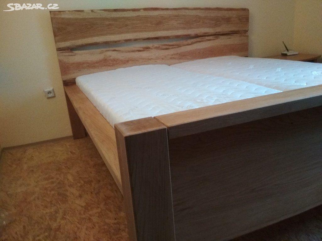 c8c1bd0b5490 Manželská postel dub jasan masiv - Havlíčkův Brod - Sbazar.cz