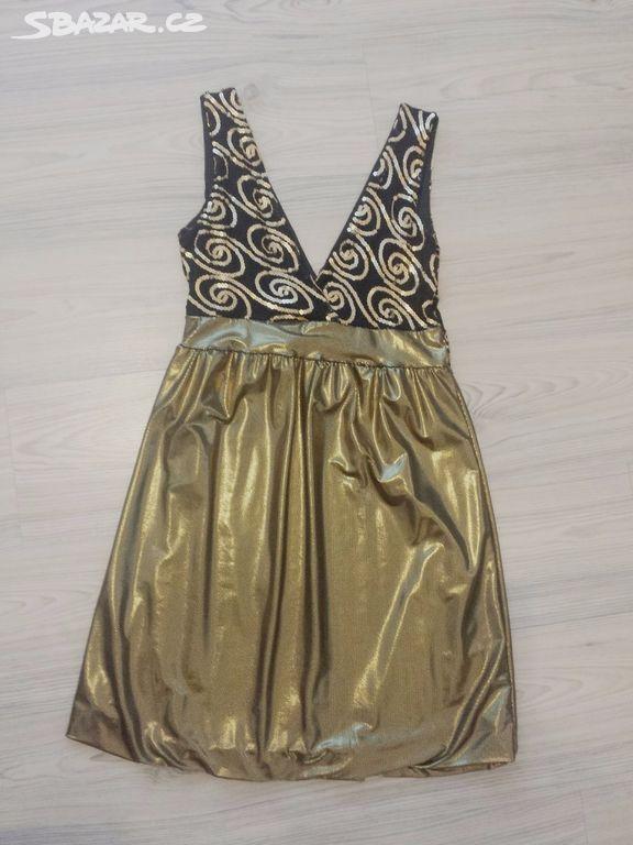 Černo-zlaté šaty - Hodonín - Sbazar.cz b14f224cda