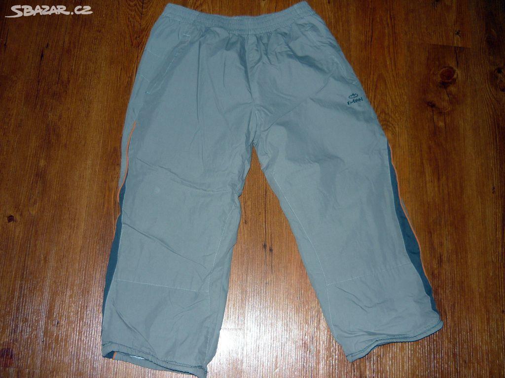 Šedé vyteplené zimní kalhoty vel.146 152 cd0594929ed